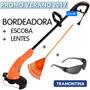 Bordeadora Eléctrica Tramontina + Escoba + Lentes 1000 W !!!