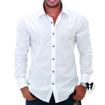 Blusa Masculina Social Camisa Roupa Loja Fit Slim Frete Grat