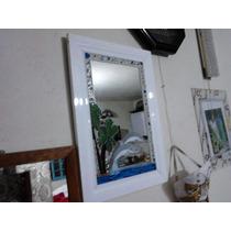 Espejo Tecnica Vitromosaico Dos Alegres Delfines Unico