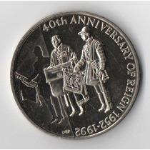 Islas Malvinas 50 Pence 1992 - 40 Aniversario