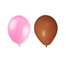 Balão Art-latex Nº7 - Bexiga Para Festa Marrom E Rosa 100uni