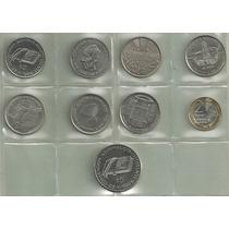 9 Monedas Argentinas Conmemorativas Excelentes/sin Circular