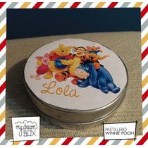 Souvenir Evento Lata Pastillero Personalizado Winnie Pooh