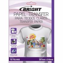 Papel Transfer P/ Tecidos De Algodão Claro Bright Com 50fls