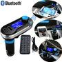 Reproductor Transmisor Fm Bluetooth Manos Libres Mp3