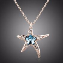 Maravilloso Collar Estrella De Mar Corazon Swarovski