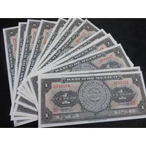 Billete 1 Un Peso Calendario Azteca 10 Nuevos Consecutivos