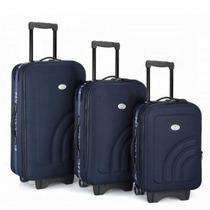 Mala Para Viagem 8 Rodas Kit C/ 3 Peças E Expansor