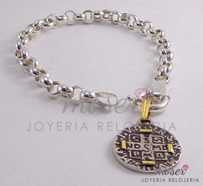 0333efd680a Pulsera Rolo Plata 925 18-20cm + Dije San Benito O F E R T A -   749 ...
