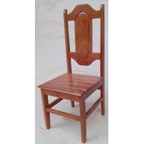 Cadeira De Mesa Em Madeira Maciça Angelim Pedra Desmontáveis