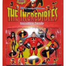 Kit 5 Personagens Os Incriveis The Incredibles Disney Pixar