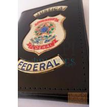 Carteira Porta Nota Justiça Federal C61p Nãoé Agente Polícia