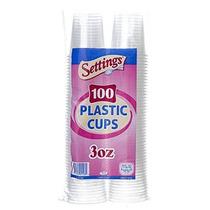 Configuración De 3 Oz. Vasos Desechables De Plástico (100 Ct