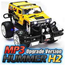 Carrinho Rc Jeep Hummer Pickup Hammer Damadores Mp3 A 35cm