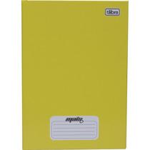 Caderno Costurado Capa Dura 1/4 48folhas Amarelo - Pct. C/15