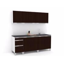 Mueble De Cocina 2.00 Mts Manijas J Aluminio Melamina