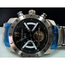 Relógio Iron Man Automático Fundo Preto Aço Frete Grátis