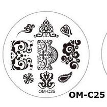 Placa Para Decoración De Uñas Con Sello Om-c25