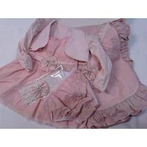 Kit Saida Maternidade 5 Peças Bebê Menina Paraiso - Vestido