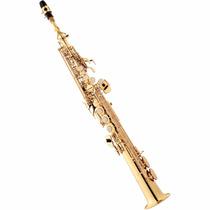 Saxofone Soprano Reto Eagle Sp502 Lq Sib (bb) Com Case - Laq