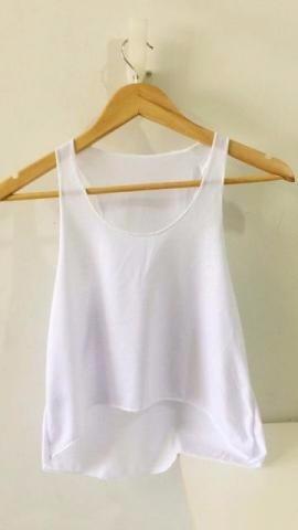 12 Camiseta Cropped Feminina 100% Poliester Para Sublimacao - R  84 ... af115835a06