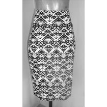 Falda Negro Con Blanco Talla Chicat