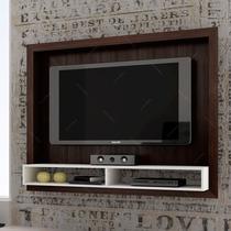 Painel Para Tv Tabaco/branco Br 420-50 Em Mdp - 147x114 Cm