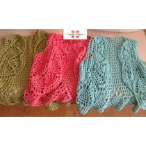Chaleco Tejido Al Crochet En Hilo De Algodon