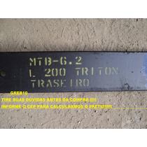 Segunda 2° Mola Mestre Feixe Fexe Traseiro L200 Triton