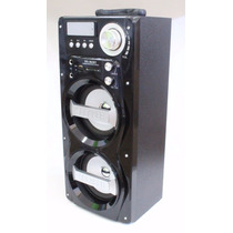 Caixa De Som Amplificada Entrada Microfone Usb Mp3 Radio Fm