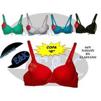 Super Economicos Brassier Push Up Copa B (32b Al 38b)