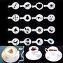 Plantillas Con Diseños Para Cafe X16 !! Arte Latte Canela