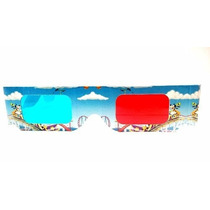 Lentes 3d Carton Mikey Mouse Fotos 3d Rojo Azul Gafas