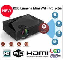Proyector Led 1200 Lumens Reales Wifi Hdmi Portatil Ipad