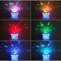 Reloj Despertador Digital Proyector De Estrellas Musical