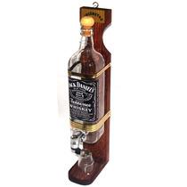 Pingômetro 1 Litro Jack Daniels Garrafa De Vidro Com Copo