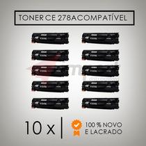 Kit 10 Toner Compatível Hp Ce278a Hp1606 1566 1536 100%novo