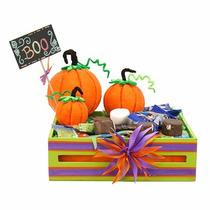 Centro De Mesa Calabaza Halloween Dia De Muertos Dulces