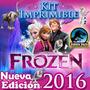 Kit Frozen Imprimible Cumpleaños Fiestas Cotillones + Video