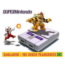 Emulador Super Nitendo Portatil + 120 Jogos Traduzidos