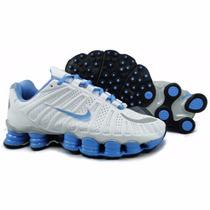 Tenís Nike Shox Tlx 12 Molas 100% Original Azul !