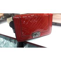 Bolsa Verniz Vermelha Lace Lore - Alca Correte Transversal