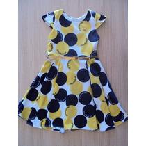 Vestido Lilica Ripilica Festa Bolas Azul/amarelo T.4