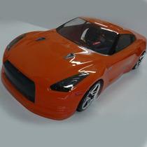 Automodelo Carro Nissan Gt-r R35 1/10 2.4ghz Drift Rc S/ Jur