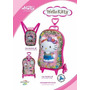 Kit Mochilete + Lancheira Hello Kitty, Max Toy 3d