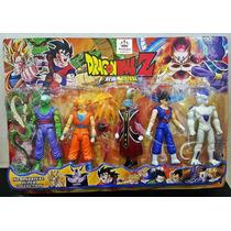 Brinquedo Bonecos Dragon Ball Z Com 5 Bonecos Goku Gohan