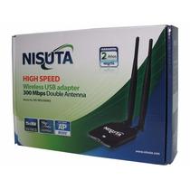 Placa Usb Wi-fi Rompemuros Wireless Doble Antena 5dbi C/u
