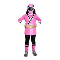 Fantasia Luxo Power Ranger Samurai - Rosa