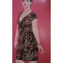 Vestido Leopardo Animal Print Moda Nacional Tallas Extras