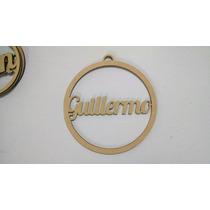 Esfera Personalizada Navideña Mdf 20cm - Navidad Nombre Pino